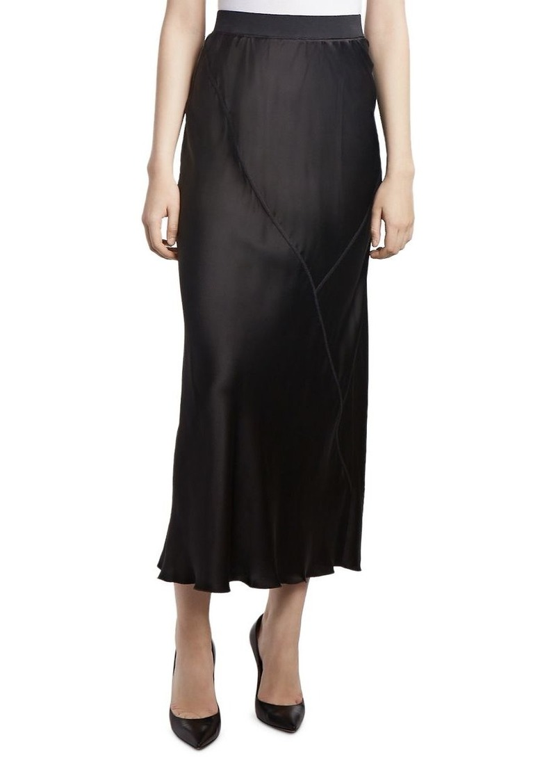 ATM Anthony Thomas Melillo Paneled Silk Skirt
