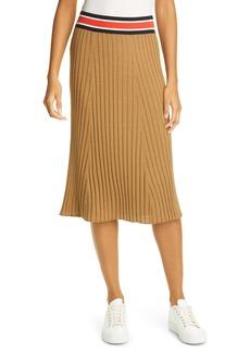 ATM Anthony Thomas Melillo Pleated Silk & Cotton Skirt
