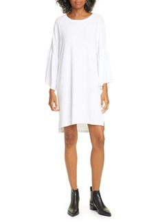 ATM Anthony Thomas Melillo Ruffle Sleeve High/Low Cotton T-Shirt Dress