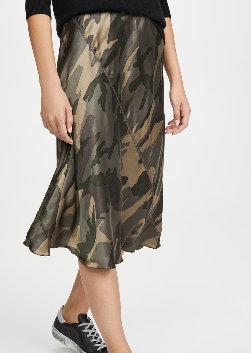 ATM Anthony Thomas Melillo Silk Camo Skirt
