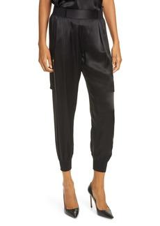 ATM Anthony Thomas Melillo Silk Satin Cargo Pants