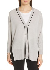 ATM Anthony Thomas Melillo Spring Colorblock Silk, Wool & Cashmere Cardigan (Nordstrom Exclusive)