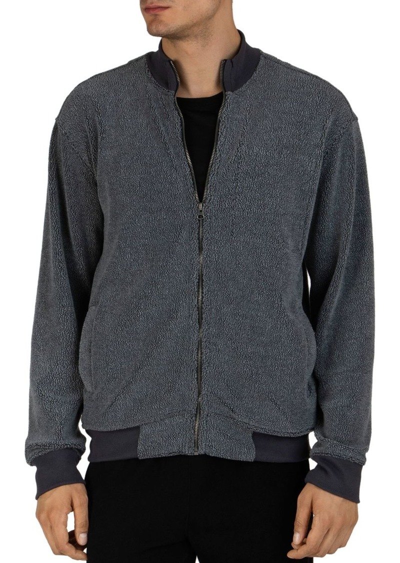 ATM Anthony Thomas Melillo Terry Fleece Zip-Up Sweater
