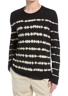 ATM Anthony Thomas Melillo Tie Dye Stripe Long Sleeve T-Shirt