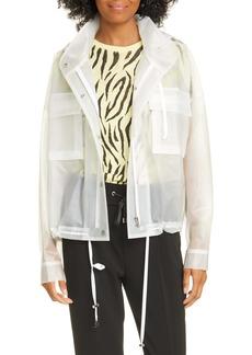 ATM Anthony Thomas Melillo Transparent Rubber Rain Jacket