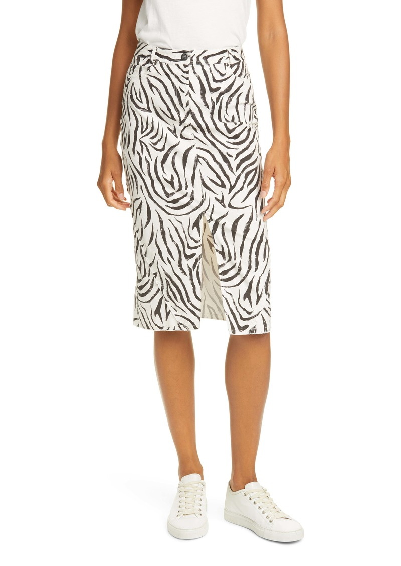 ATM Anthony Thomas Melillo Zebra Print Denim Skirt