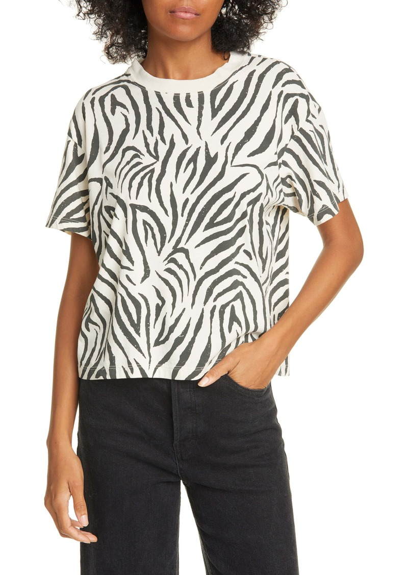 ATM Anthony Thomas Melillo Zebra Print Tee