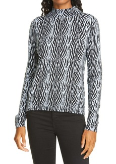 ATM Anthony Thomas Melillo ATM Anthony Thomas Zebra Print Cotton & Cashmere Top
