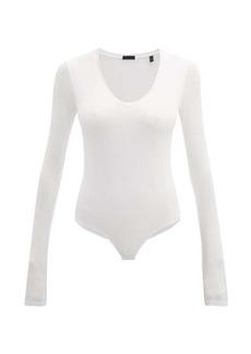 ATM Anthony Thomas Melillo ATM Ribbed scoop-neck bodysuit