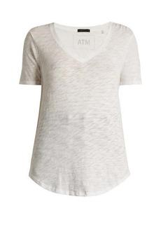 ATM Anthony Thomas Melillo ATM V-neck slub cotton-jersey T-shirt