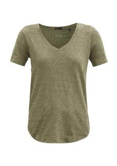 ATM Anthony Thomas Melillo ATM V-neck slubbed cotton-jersey T-shirt