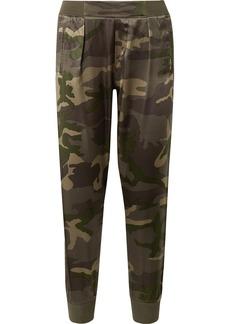ATM Anthony Thomas Melillo Camouflage-print Silk-satin Track Pants