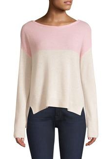 ATM Anthony Thomas Melillo Cashmere Colorblocked Sweater