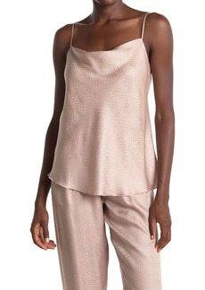 ATM Anthony Thomas Melillo Croc Jacquard Silk Cowl Neck Camisole