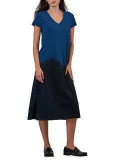 ATM Anthony Thomas Melillo Dip-Dye V-Neck Short-Sleeve Dress