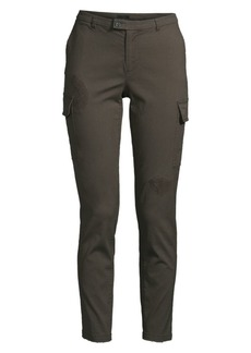 ATM Anthony Thomas Melillo Distressed Cotton Cargo Pants