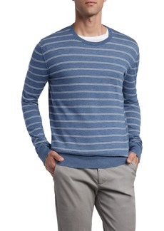 ATM Anthony Thomas Melillo Double Stripe Cotton & Cashmere Sweater