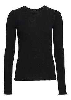 ATM Anthony Thomas Melillo Cashmere Long-Sleeve Crewneck