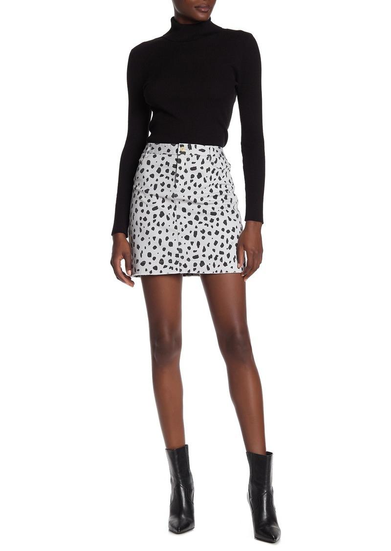 ATM Anthony Thomas Melillo Leopard Carpenter Mini Skirt