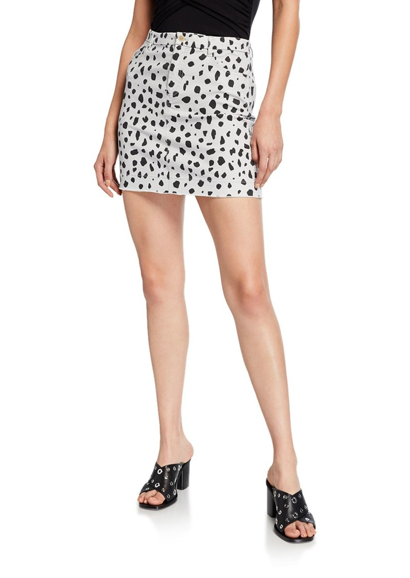 ATM Anthony Thomas Melillo Leopard-Print Mini Skirt