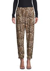 ATM Anthony Thomas Melillo Leopard Silk Joggers