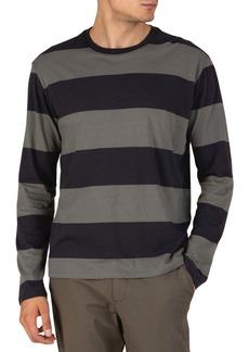 ATM Anthony Thomas Melillo Long Sleeve Striped Crew Neck Shirt