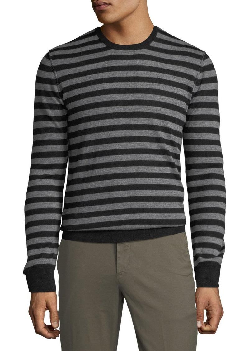 ATM Anthony Thomas Melillo Men's Striped Wool Crewneck Sweater