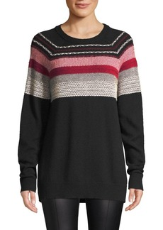 ATM Anthony Thomas Melillo Merino Wool Fair Isle Sweater