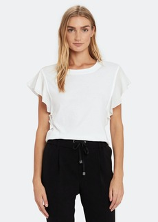 ATM Anthony Thomas Melillo Mix Media Flute Sleeve Tee - L - Also in: S, XS, M