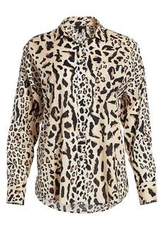 ATM Anthony Thomas Melillo Oversize Leopard-Print Shirt