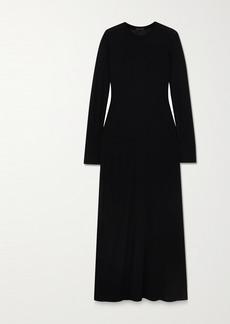 ATM Anthony Thomas Melillo Paneled Modal-jersey Maxi Dress
