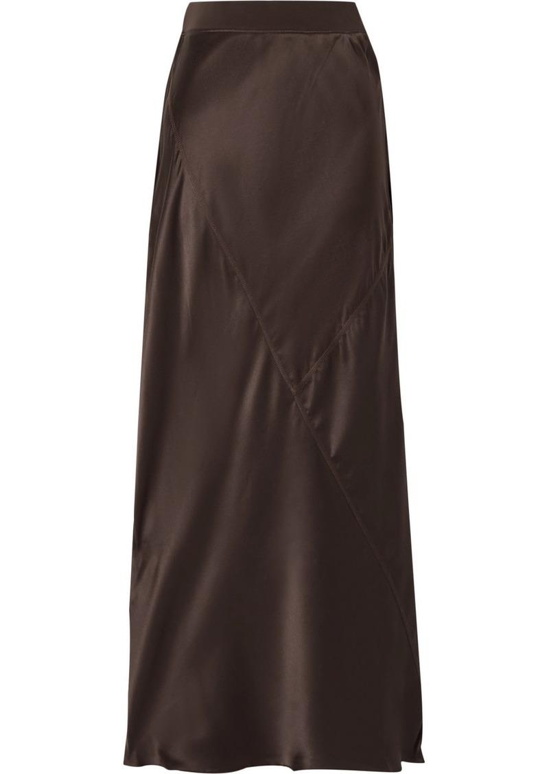 ATM Anthony Thomas Melillo Paneled Silk-satin Midi Skirt
