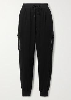 ATM Anthony Thomas Melillo Satin-trimmed Cotton-gauze Track Pants
