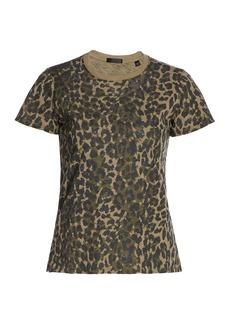 ATM Anthony Thomas Melillo Schoolboy Leopard Print T-Shirt