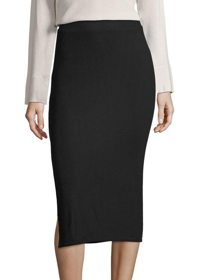 ATM Anthony Thomas Melillo Side-Slit Knit Midi Skirt
