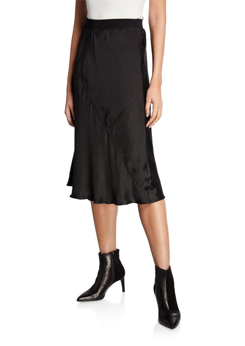 ATM Anthony Thomas Melillo Silk Midi Pull-On Skirt