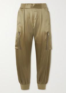 ATM Anthony Thomas Melillo Silk-satin Tapered Track Pants