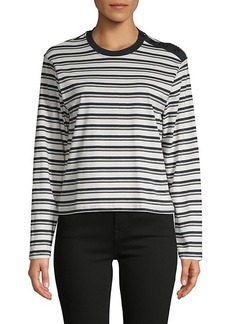 ATM Anthony Thomas Melillo Striped Cotton Top