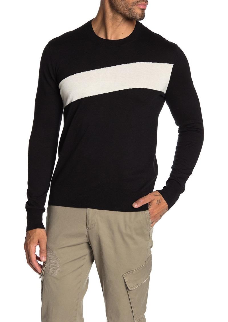 ATM Anthony Thomas Melillo Striped Crew Neck Sweater