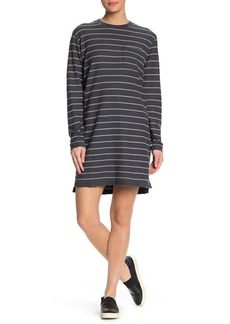 ATM Anthony Thomas Melillo Striped Long Sleeve Pique T-Shirt Dress