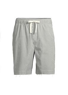 ATM Anthony Thomas Melillo Striped Pull-On Drawstring Shorts