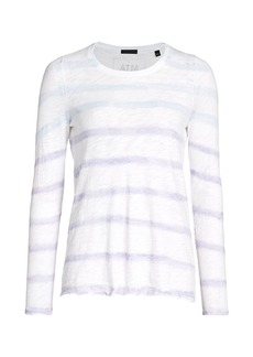 ATM Anthony Thomas Melillo Tie-Dye Destroyed Long Sleeve Pullover