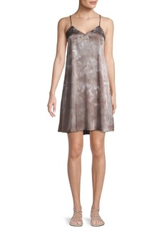 ATM Anthony Thomas Melillo Tie-Dyed Silk Mini Slip Dress