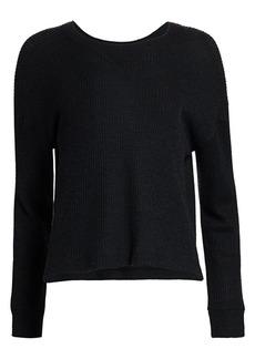 ATM Anthony Thomas Melillo Waffle Crewneck Sweater