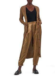 Women's Atm Anthony Thomas Melillo Wide Rib Silk Blend Long Cardigan