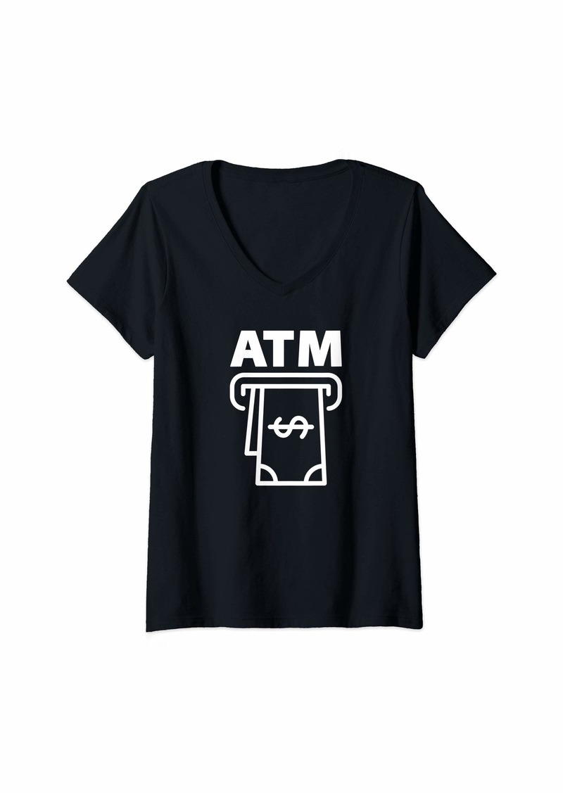 ATM Anthony Thomas Melillo Womens I'm an ATM funny V-Neck T-Shirt