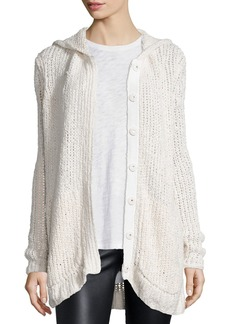 ATM Anthony Thomas Melillo Hooded Oversize Button-Front Cardigan Sweater