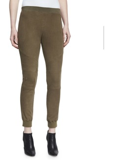 ATM Anthony Thomas Melillo Stretch Suede Track Pants