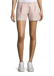 ATM Anthony Thomas Melillo Striped Pleated Linen Shorts