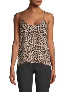 ATM Anthony Thomas Melillo Leopard Print Silk Cami